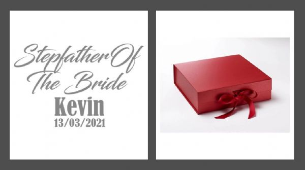 Step Father Of The Bride Large Luxury Personalised Gift Box